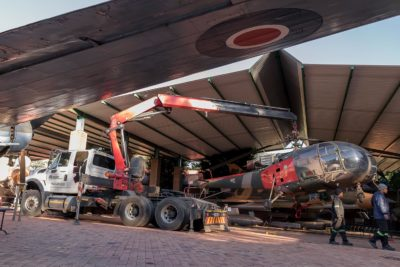 old-dames-final-lift-off-helicopter-projects-rigging-mme-Machine-Moving-Engineering-machinery-equipment-Gauteng-KwaZulu-Natal-SA-National-Museum-Military-History
